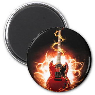 Abstract Guitar Design 2 Inch Round Magnet