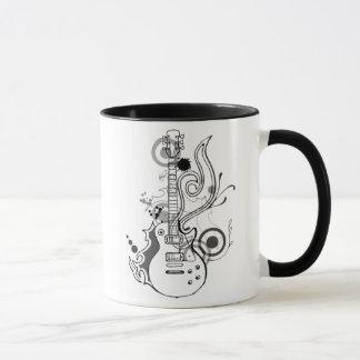 abstract guitar design mug