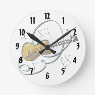abstract guitar notes music.png round clocks