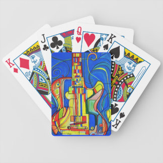 Abstract Guitar Playing Cards by ValAries