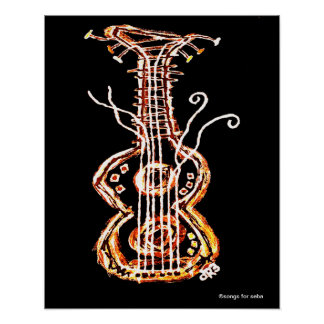 Abstract Guitar Poster