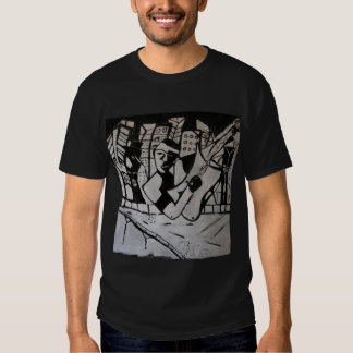 ABSTRACT GUITARIST BLACK WHITE TEES