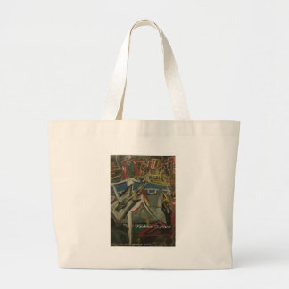 abstract guitarist canvas bags