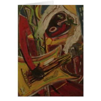 Abstract Guitarist II Greeting Cards