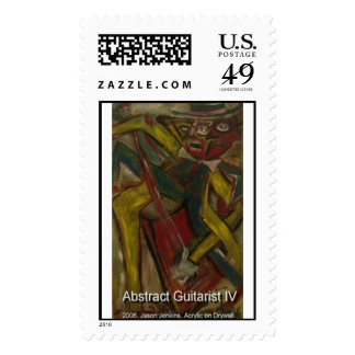 abstract guitarist IV Stamp
