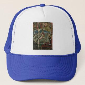 abstract guitarist trucker hat
