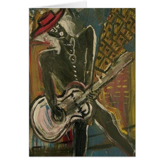 Abstract Guitarist V Card