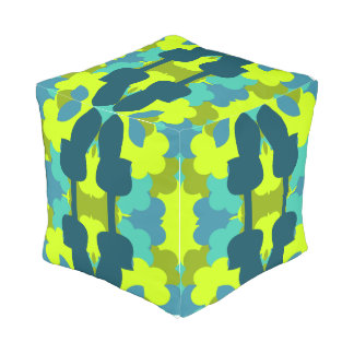 Abstract guitars in green outdoor pouf
