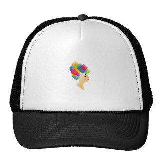 Abstract Hairstyle Trucker Hat