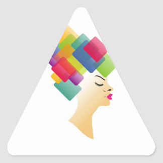 Abstract Hairstyle Triangle Sticker