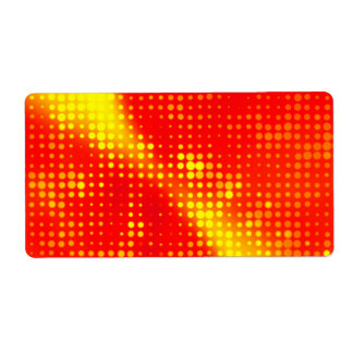 Abstract Halftone Dots Shipping Label