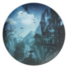 Abstract Halloween Backgrounds Dinner Plate