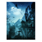 Abstract Halloween Backgrounds Postcard