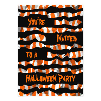 Abstract Halloween pattern Card