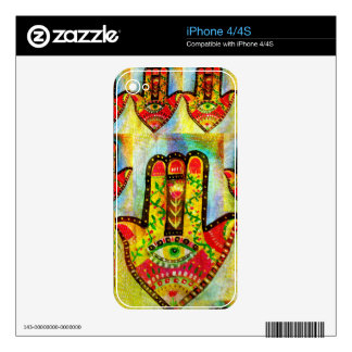 Abstract Hamsa Hand Art Decals For The iPhone 4S