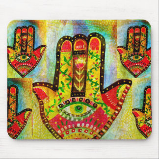 Abstract Hamsa Hand Art Mouse Pad