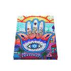 Abstract  Hamsa Tree of Life Eye Canvas Print