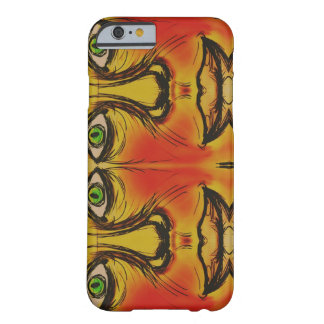 Abstract Hand drawn faces in color Barely There iPhone 6 Case