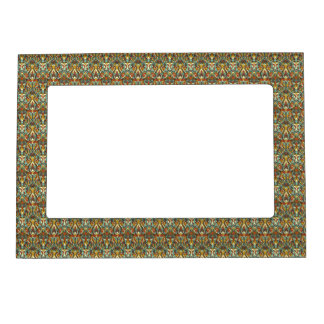 Abstract hand drawn pattern. Retro color. Magnetic Picture Frame