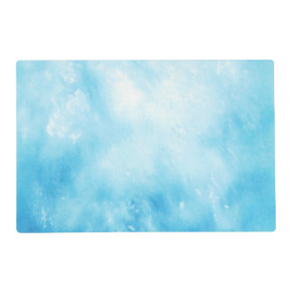 Abstract Hand Drawn Watercolor Background: Blue Placemat