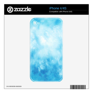 Abstract Hand Drawn Watercolor Background: Blue iPhone 4S Decal