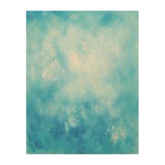 Abstract Hand Drawn Watercolor Background: Blue Wood Wall Decor