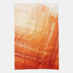 Abstract hand painted background hand towels