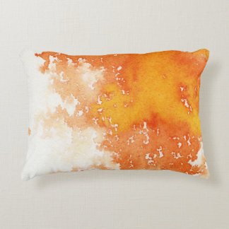 Abstract hand painted watercolor background. 2 decorative pillow