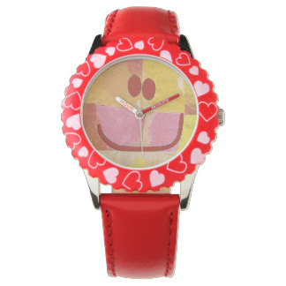 abstract happy face watch