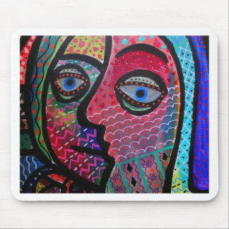 ABSTRACT HAPPY FAMILY BY PRISARTS MOUSE PAD
