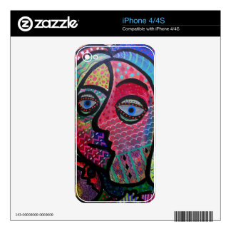 ABSTRACT HAPPY FAMILY BY PRISARTS SKIN FOR THE iPhone 4S