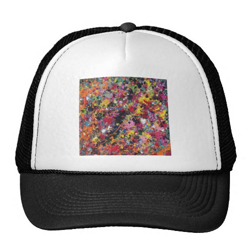 abstract happy thoughts mesh hats