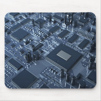 Abstract hardware mouse pad