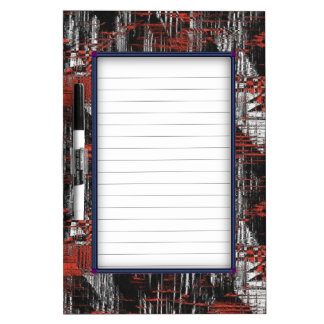 Abstract Hash Tags Dry Erase Board
