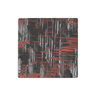 Abstract Hash Tags Stone Magnet
