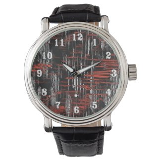Abstract Hash Tags Wristwatches
