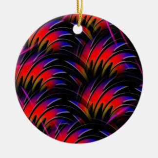 Abstract   Have fun while discovering. Ceramic Ornament