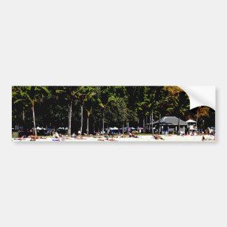 Abstract Hawaiian Beach Bumper Sticker