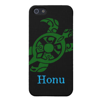 Abstract Hawaiian Green Sea Turtle on Black Cover For iPhone SE/5/5s