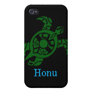 Abstract Hawaiian Green Sea Turtle on Black iPhone 4 Case