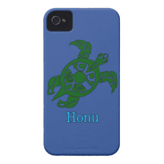 Abstract Hawaiian Green Sea Turtle on Ocean Blue iPhone 4 Case-Mate Case