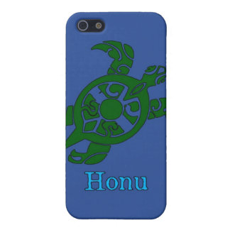 Abstract Hawaiian Green Sea Turtle on Ocean Blue iPhone SE/5/5s Cover