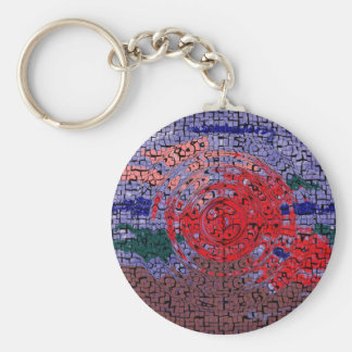 Abstract Hawaiian Memories Keychain