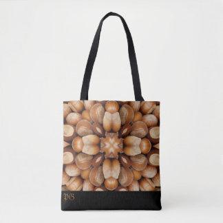 Abstract hazelnuts pattern monogram bag