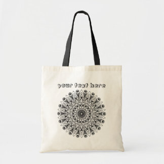 Abstract Heart and Flower Mandala Color Me Tote