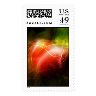 Abstract Heart Art Design Postage Stamps