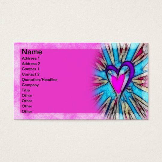 Abstract Heart Business Card