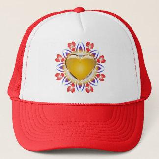 Abstract-Heart-Design apparel Trucker Hat