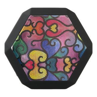 Abstract Heart Design Black Bluetooth Speaker