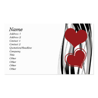 Abstract Heart Design Double-Sided Standard Business Cards (Pack Of 100)